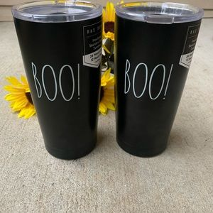 Set of Two Rae Dunn Boo! Tumblers
